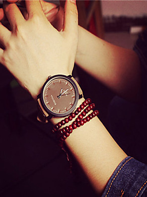 cheap Quartz Watches-Women's Bracelet Watch Quartz Quilted PU Leather Black Casual Watch Analog Ladies Fashion Elegant - White Black Brown One Year Battery Life / KC 377A