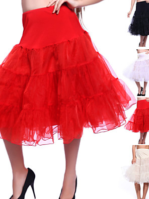cheap Wedding Slips-Wedding / Special Occasion / Party / Evening Slips Organza / Tulle Knee-Length A-Line Slip / Classic & Timeless with