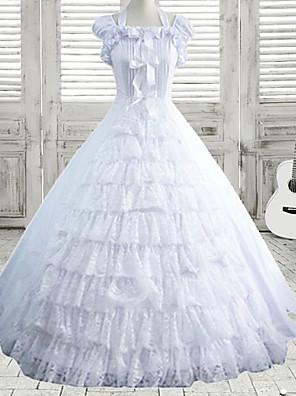 cheap Lolita Dresses-Dress Sweet Lolita Dress Lolita Accessories Cotton Halloween Costumes / Medium Length
