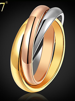 Women's Stack Ring - Stainless Steel, Gold Plated, Rose Gold Plated Vintage, Party