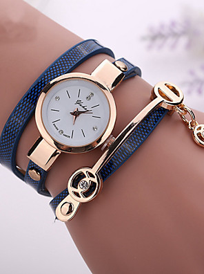 cheap Quartz Watches-fashion new summer style leather casual bracelet watches wristwatch women dress watches relogios femininos watch - Green Blue Royal Blue One Year Battery Life