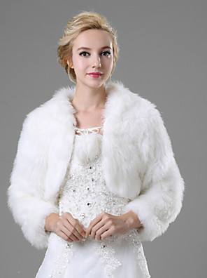 cheap Bridesmaid Dresses-Shrugs Faux Fur Wedding / Party Evening / Casual Fur Coats With