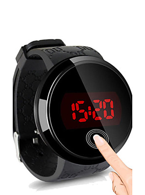 cheap Smart Watches-Men's Wrist Watch Digital Watch Digital Silicone Black Water Resistant / Waterproof Touch Screen Creative Digital Simple watch - Black Black / White White / Silver Two Years Battery Life / LED