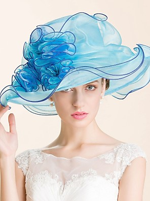 cheap Evening Dresses-Gemstone & Crystal / Organza Kentucky Derby Hat / Hats / Headpiece with Crystal 1 Wedding / Special Occasion / Party / Evening Headpiece