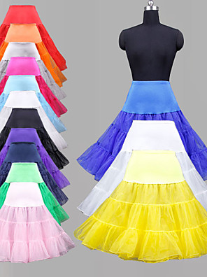 cheap Wedding Slips-Wedding / Special Occasion / Party / Evening Slips Organza / Tulle / Lycra Knee-Length Ball Gown Slip / Classic & Timeless with Dyed