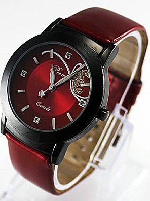cheap Quartz Watches-Women's Wrist Watch Quartz Quilted PU Leather Black Casual Watch Analog Ladies Charm Fashion - Purple Red One Year Battery Life / Stainless Steel / SSUO 377