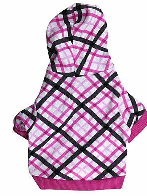 cheap Prom Dresses-Dog Hoodie Fashion Winter Dog Clothes Breathable Fuchsia / Black Costume Cotton XS S M L