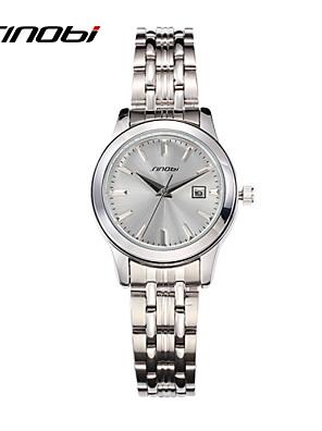 cheap Quartz Watches-SINOBI Women's Luxury Watches Wrist Watch Quartz Ladies Water Resistant / Waterproof Silver Analog - Silver / Calendar / date / day