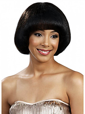 cheap Sexy Bodies-Synthetic Wig Straight Straight Bob With Bangs Wig Short Black Synthetic Hair Women's Black