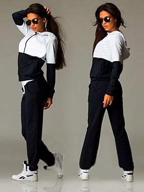 75dbe620f43 Women s Patchwork   Zipper Tracksuit - Dark Blue