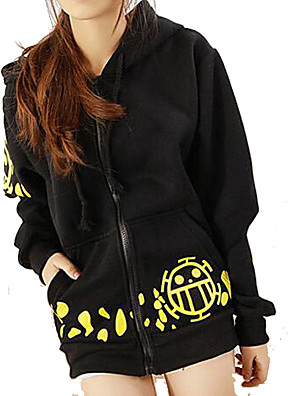 cheap Prom Dresses-Inspired by One Piece Trafalgar Law Anime Cosplay Costumes Japanese Cosplay Hoodies Print Long Sleeve Top More Accessories For Men's Women's