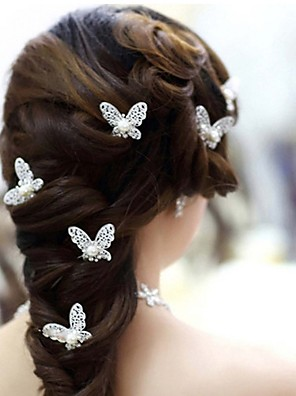 cheap Evening Dresses-Imitation Pearl / Alloy Headwear / Hair Pin with Floral 4pcs / pack Wedding / Special Occasion Headpiece