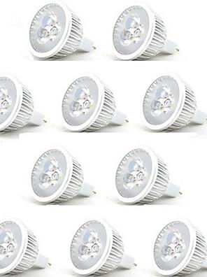 cheap Wedding Wraps-HRY 10pcs 3 W LED Spotlight 250 lm MR16 3 LED Beads High Power LED Decorative Warm White Cold White 12 V / RoHS