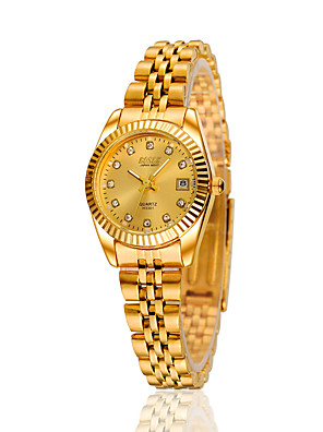 cheap Quartz Watches-Women's Fashion Watch Automatic self-winding Silver / Gold / Rose Gold Analog - Golden White Black