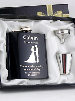 cheap Wedding Slips-Stainless Steel Hip Flasks Bride / Groom / Bridesmaid Wedding / Anniversary / Birthday