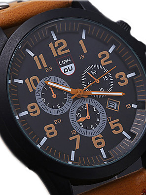 cheap Quartz Watches-Men's Wrist Watch Aviation Watch field watch Quartz Aristo Water Resistant / Waterproof Leather Black / Brown / Green Analog - Black Green Brown One Year Battery Life / Calendar / date / day