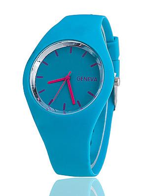 cheap Fashion Watches-Women's Wrist Watch Quartz Ladies Casual Watch Silicone Black / White / Blue Analog - White Black Purple One Year Battery Life / Tianqiu 377
