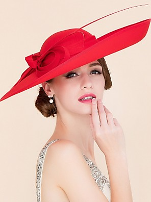 cheap Evening Dresses-Fabric Kentucky Derby Hat / Hats with 1 Wedding / Special Occasion / Casual Headpiece