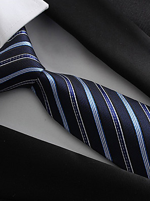 cheap Men's Shirts-Men's Party / Work / Basic Polyester Necktie / Blue