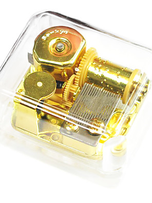 cheap Prom Dresses-ABS Gold Creative Romantic Music Box for Gift