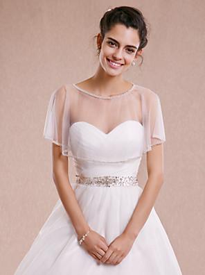 cheap Wedding Wraps-Sleeveless Shrugs Tulle Wedding / Party Evening Wedding  Wraps With