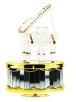 cheap Evening Dresses-ABS White Creative Romantic Music Box for Gift