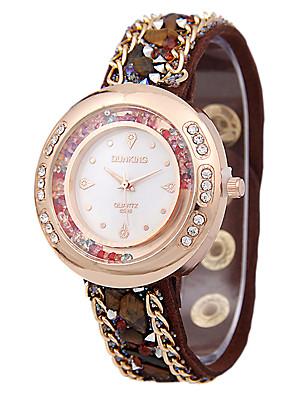 cheap Quartz Watches-Women's Fashion Watch Floating Crystal Watch Diamond Watch Quartz Ladies Black / White / Red Analog - White Black Red One Year Battery Life / SSUO LR626