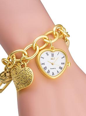cheap Sport Watches-ASJ Women's Fashion Watch Bracelet Watch Gold Watch Quartz Japanese Quartz Ladies / Silver / Gold Analog - Golden Silver