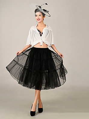 cheap Wedding Slips-Wedding / Special Occasion Slips Tulle / Polyester Knee-Length Ball Gown Slip with