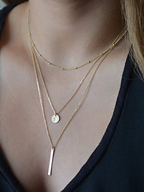 cheap Watches-Women's Pendant Necklace Y Necklace Cheap Ladies Basic Fashion Alloy Silver Golden Necklace Jewelry For Party Daily Casual