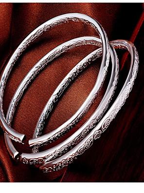 cheap Mini Dresses-Women's Bracelet Bangles Ladies Fashion Sterling Silver Bracelet Jewelry Silver For