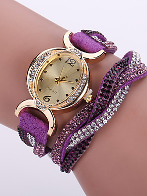 cheap Bracelet Watches-Women's Bracelet Watch Wrist Watch Simulated Diamond Watch Quartz Ladies Imitation Diamond Analog White Black Purple / Leather / One Year / One Year / Tianqiu 377