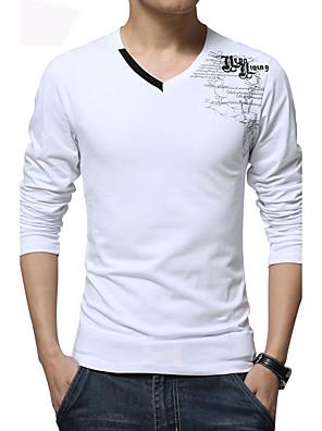 20ea81b892bd Ανδρικά Μεγάλα Μεγέθη T-shirt Αθλητικά Μπόχο - Βαμβάκι Στάμπα   Μακρυμάνικο