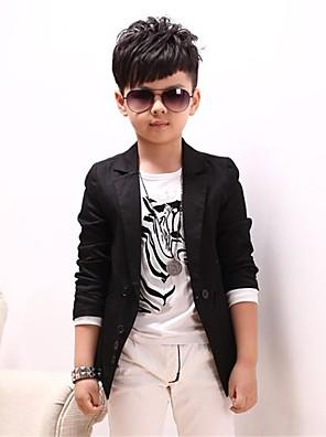 povoljno Kompletići za dječake-Dječaci Cool Dnevno Jednobojni Dugih rukava Pamuk Odijelo i sako Crn