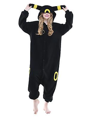 cheap Wedding Dresses-Adults' Pika Pika Kigurumi Pajamas Onesie Pajamas Polar Fleece Black Cosplay For Animal Sleepwear Cartoon Halloween Festival / Holiday / Christmas