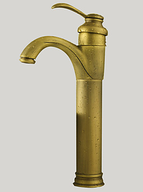 cheap Evening Dresses-Bathroom Sink Faucet - Rotatable Antique Brass Vessel One Hole / Single Handle One HoleBath Taps