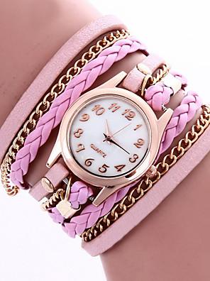 cheap Quartz Watches-Women's Bracelet Watch Wrist Watch Wrap Bracelet Watch Quartz Flower / Leather Black / White / Blue Analog - White Black Purple