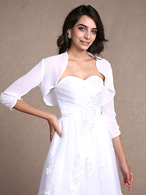 cheap Wedding Wraps-Shrugs Chiffon Wedding / Party Evening / Casual Women's Wrap With Draping