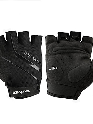 cheap Sports Support & Protective Gear-Bike Gloves / Cycling Gloves Mountain Bike Gloves Mountain Bike MTB Road Bike Cycling Breathable Padded Anti-Slip Wearproof Fingerless Gloves Half Finger Sports Gloves Leather Mesh Silicone Gel Black