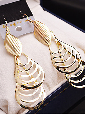cheap Watches-Women's Girls' Fashion Gold Plated Earrings Jewelry Gold / Silver For Wedding Party Casual / Multi-stone