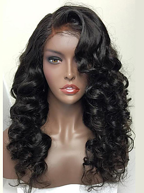 cheap Evening Dresses-8a brazilian full lace human hair wig for woman wavy human hair wigs with baby hair full lace wig