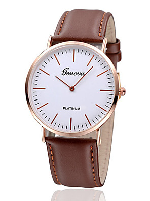 cheap Quartz Watches-Women's Wrist Watch Quartz Ladies Casual Watch Leather Black / Brown Analog - Black Brown One Year Battery Life / Jinli 377