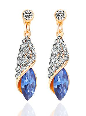 cheap Watches-Women's Drop Earrings Hoop Earrings Crossover Tassel Bohemian Punk Rock Hip-Hop Rhinestone Earrings Jewelry White / Green / Blue For Wedding Party Daily Casual