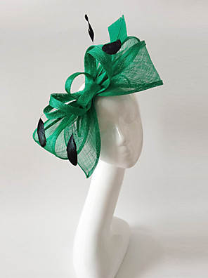 cheap Prom Dresses-Flax / Feather Fascinators with 1 Wedding / Special Occasion / Horse Race Headpiece
