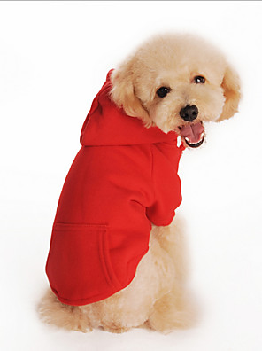 cheap Junior Bridesmaid Dresses-Dog Hoodie Dog Clothes Solid Colored Orange Gray Red Cotton Costume For Winter Men's Women's Casual / Daily Sports Fashion