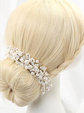 cheap Bridesmaid Dresses-Imitation Pearl / Alloy Headbands with 1 Wedding Headpiece
