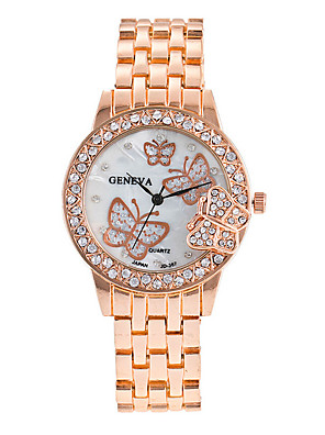 povoljno Kvarcni satovi-Žene Luxury Watches Ručni satovi s mehanizmom za navijanje Diamond Watch dame Cool Srebro / Zlatna / Rose Gold Analog - Rose Gold Zlato Srebro / Velika kazaljka