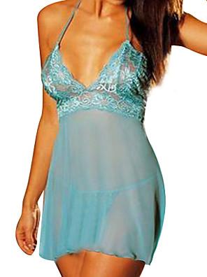 cheap Women's Dresses-Women's Plus Size Super Sexy Babydoll & Slips Nightwear Solid Colored Purple Blue Pink XXL XXXL XXXXL