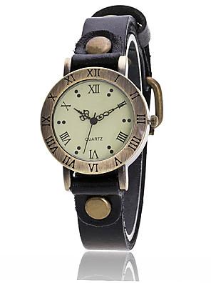 cheap Quartz Watches-Women's Fashion Watch Wrist Watch Quartz Ladies Cool Analog White Black Yellow / Leather