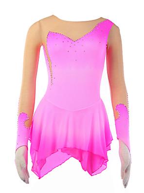 cheap Gymnastics-21Grams Women's Long Sleeve Halo Dyeing Sport Athleisure Skirt Skating / Velvet / Velvet